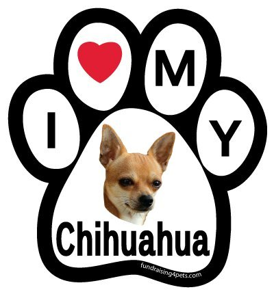 Love My Chihuahua Paw Magnet
