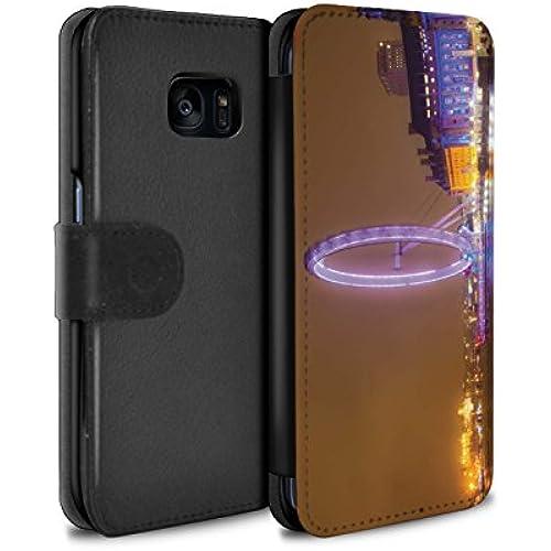 STUFF4 PU Leather Wallet Flip Case/Cover for Samsung Galaxy S7 Edge/G935 / London Eye Design / London England Sales