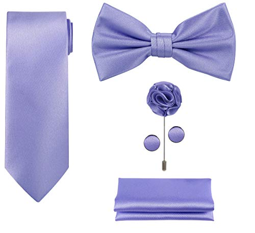 (5pcs Tie set in a gift box (Lilac/Violet))