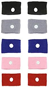 DR.DUDU 5 Pairs Motion Sickness Relief Wristbands Acupressure Wristbands Nausea Relief Band for Morning Sickness & Sea, Travel, Car Sickness