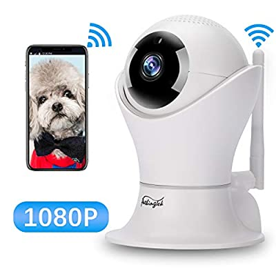 WiFi IP Camera 1080P HD Wireless Camera Baby Pet Monitor Surveillance Home Security Camera Nanny IP Cam Pan/Tilt Motion Detection Two-Way Audio Night Vision Wireless IP Camera from Pathinglek
