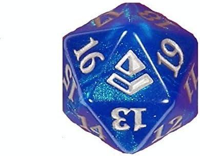 MTG Magic the Gathering Throne of Eldraine Blue Spindown Die