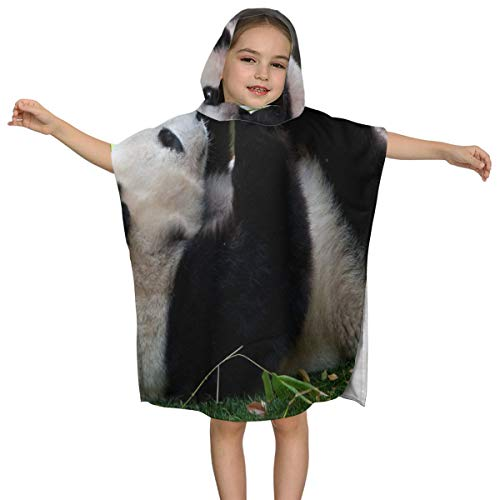 ZHOUSUN Extra Large Super Soft and Absorbent Hooded Poncho Bath Towel,Cute Panda Baby Beach Towel for Boys