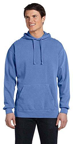 Full Flo Hood - Comfort Colors 9.5 Oz. Garment-Dyed Pullover Hood, Small, Flo Blue