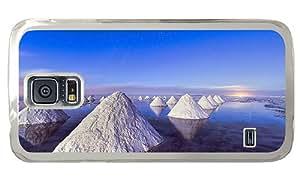 Cheap custom Samsung Galaxy covers Piles of salt Dead Sea blue sky PC Transparent for Samsung S5,Samsung Galaxy S5,Samsung i9600
