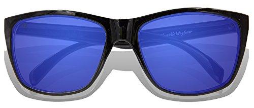 Frame Full Black Blue Lens Revo de soleil Glossy KZ adulte Lunettes TZqWaY