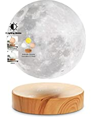 VGAzer Levitating Moon Lamp,Floating and Spinning in Air Freely with 3D Printing LED Moon Light Has 3 Colors Modes(YE,WH,Change from WH to YE) for Unique Gifts,Room Decor,Night Light,Office Desk Toys