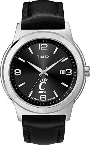 Timex Men's Cincinnati Bearcats Watch Black Leather Band Ace