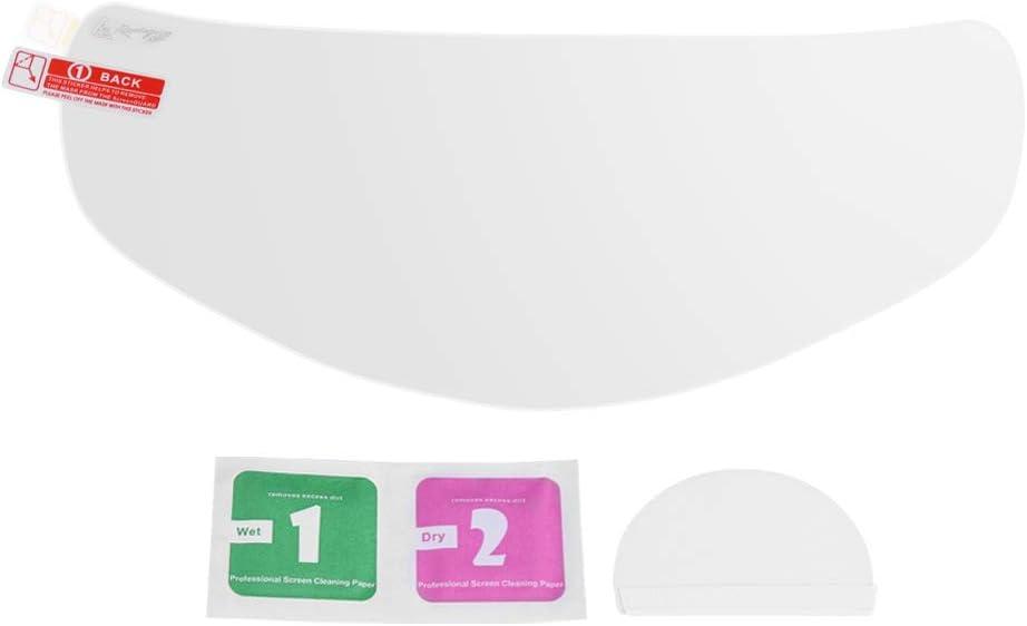 hojas protectoras de ara/ñazos protector de pel/ícula de lente de casco de motocicleta impermeable universal Pel/ícula de visor de casco EVGATSAUTO
