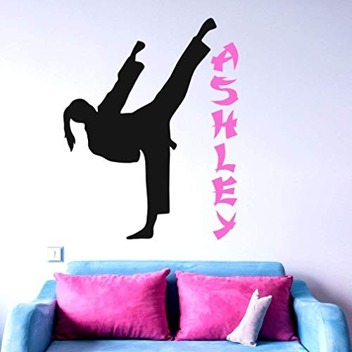 Amazon.com: Personalized Karate Girl Wall Decal, Girl Martial Arts Gifts, Karate Girl Sticker, 30 Colors & Sizes: Handmade