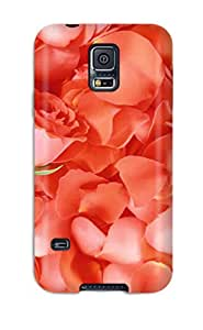 Best Design High Quality Lovely Rose Flower Cover Case With Excellent Style For Galaxy S5