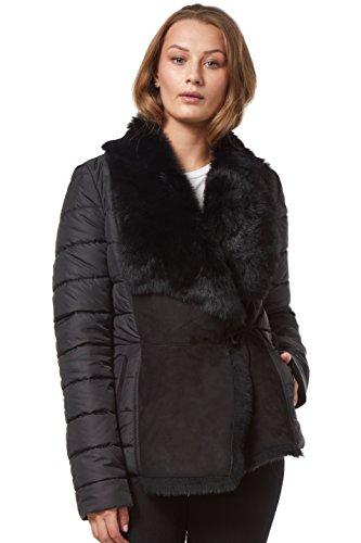 Kate Tuscana Jacket Sheepskin Shearling Fashion Negro Acolchado Material