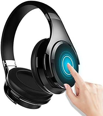 7b86acea3dd Zhengfangfang Auriculares Bluetooth, Auriculares inalámbricos Auriculares  estéreo Hi-Fi Plegable con Volumen en línea de micrófono, Auriculares con  Cable e ...