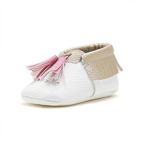 b22d2fd07396b2 Vlunt Babyschuhe Baby Fransen Schuhe Kleinkind Weiche Sohle Freizeitschuhe  Lauflernschuhe Weiß