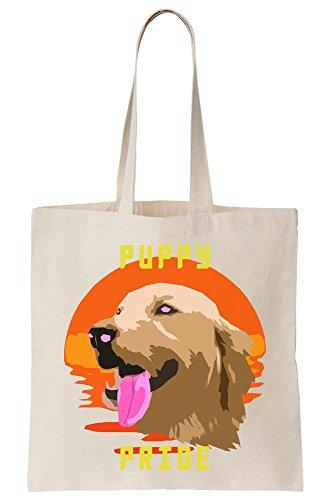 Bag Tote Pride Retriever Puppy Tribute Canvas wqTZapx