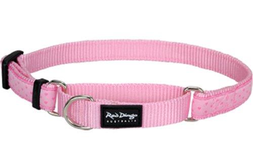 Designer Martingale Collars - Red Dingo Designer Martingale Dog Collar, Large, Love Sprinkles Pink