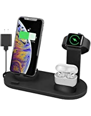 Fullpetree Latest Mobile Phone and Watch Charger, 3 in 1 Charging Station Base for Watch Series Se 6 5 4 3 2 1, Compatible with Phone 12, 12 Mini, 12 Pro Max, 11 Pro, 11 / Xs/X Max/XR