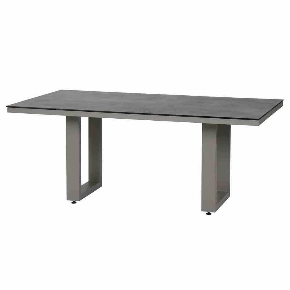 Siena Garden Tisch, Derio, hellgrau/grau, 100x180x74 cm, 508539