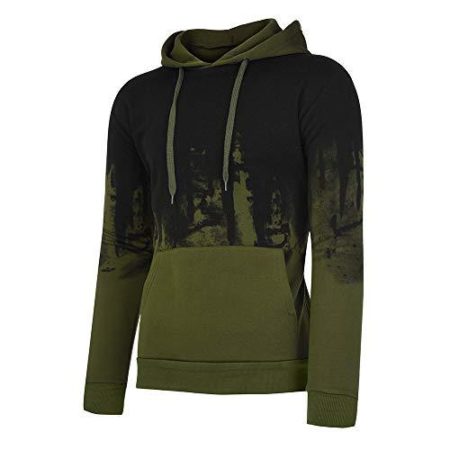 Felpa Uomo Hooded Printed Jumper Autunno Con Tumblr Lunga Inverno Felpe Verde Oyedens Magliette Shirt Cappuccio Sportive Pullover Blouse Sweatshirt Manica Tops Hoodie Acq4L53Rj