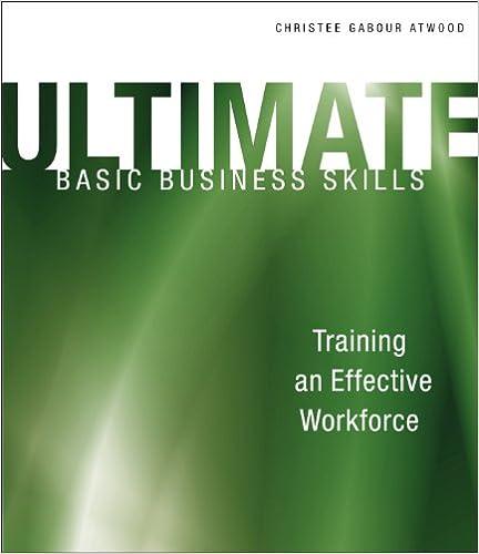 Read Ultimate Basic Business Skills: Training an Effective Workforce PDF