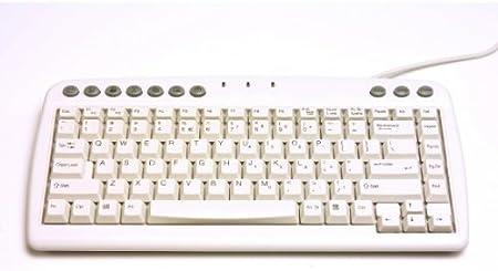 Bakker Elkhuizen Q-Board Teclado Americano, Blanco: Amazon.es ...