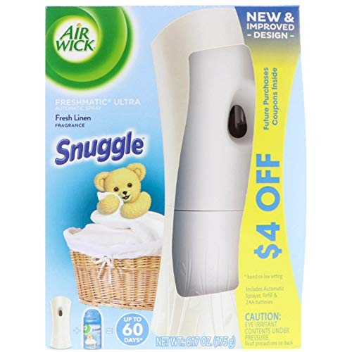 (Air Wick Freshmatic Ultra Automatic Spray - Starter Kit Snuggle Fresh Linen, 6.17 oz)