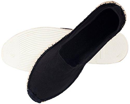 Sommerlatschen Espadrilles, vollgummiert, schwarz, Unisex, SL1095 36