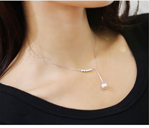 - Sweet Accessories Pearl Necklace Women Accessories Clavicle Fine Chain Sliver