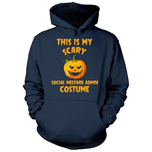 Welfare Mom Costume (This Is My Scary Social Welfare Admin Costume Halloween - Hoodie Navy XL)
