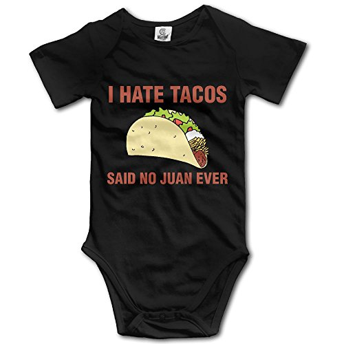 I Hate Tacos Said No Juan Ever Toddler Cotton Short Sleeves Clothes For 0-24m Baby