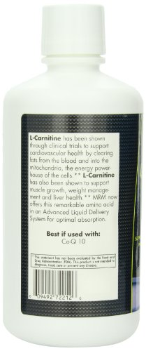 MRM L Carnitine 1000 Liquid, Supports Energy Metabolism, Cardiovascular and Liver Health (Natural Vanilla Flavor, 32 oz)