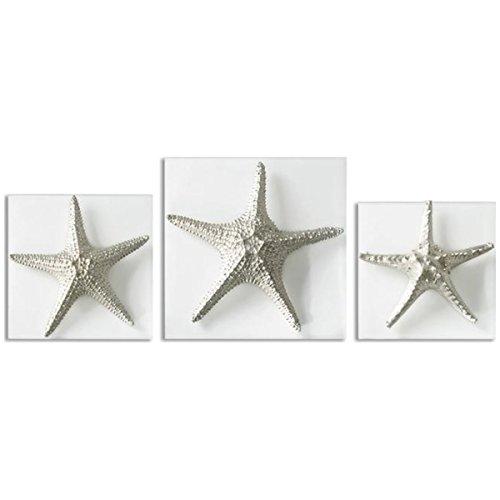 Uttermost Metal Wall Decor Set - Uttermost 01129 Silver Starfish Wall Art