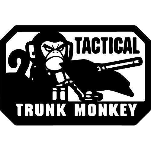 NBFU DECALS Tactical Trunk Monkey Morale Patch (Black) (Set of 2) Premium Waterproof Vinyl Decal Stickers for Laptop Phone Accessory Helmet Car Window Bumper Mug Tuber Cup Door Wall Decoration ()