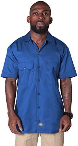 Dickies - Short Sleeve Work Shirt - Royal Blue Mens Casual Fasion Shirt