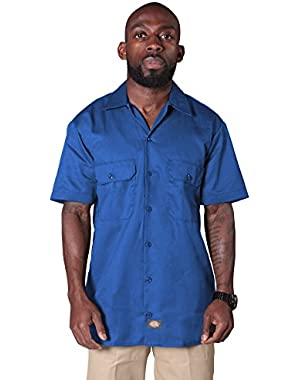 Short Sleeve Work Shirt-Royal Blue Mens Casual Fasion Shirt