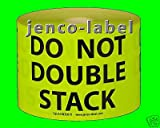 Jenco-Label DN3501Y, 500 3 x 5 Do Not Double Stack Label/Sticker