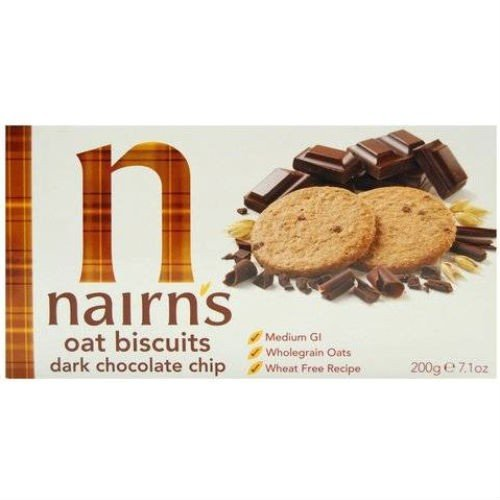 (12 PACK) - Nairns - Dark Choc Chip Oaty Biscuits | 200g | 12 PACK BUNDLE NAIRN'S OATCAKES