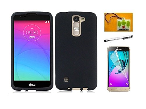 best loved 2d87e 7b0a5 LG K7 Case, LG Tribute 5 Case (Metro PCS) Luckiefind® Hard Cover Case,  Stylus Pen, Screen Protector & Wiper Accessory (Hard Black)