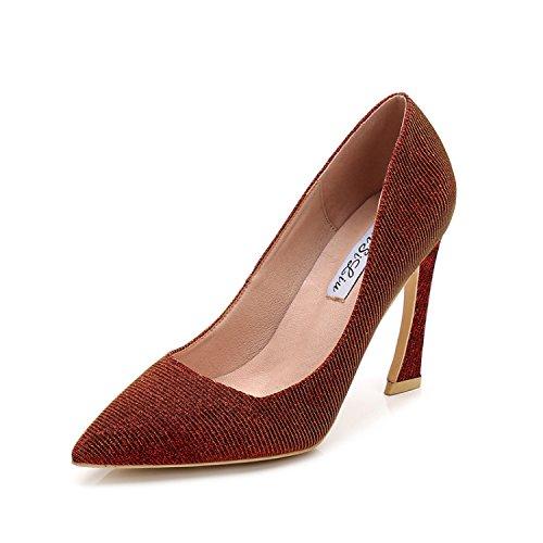 tacchi Raptor fata 9 tacco Gradiente centimeters scarpe le scarpe Rosso Elevato coreano con ZHANGJIA alti e HAgEgqx