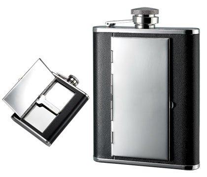 (Aeropen International FK-1406 6oz. Bonded Leather Flask-Cigarette Holder by ParagonEmporium)