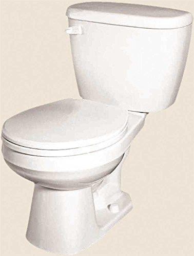 Dual Flush Round Front Toilet (GERBER PLUMBING G002195225 2473730 Maxwell Siphon Jet Toilet Bowl, Round, 1.6 Gpf/1.28 Gpf, Bone)