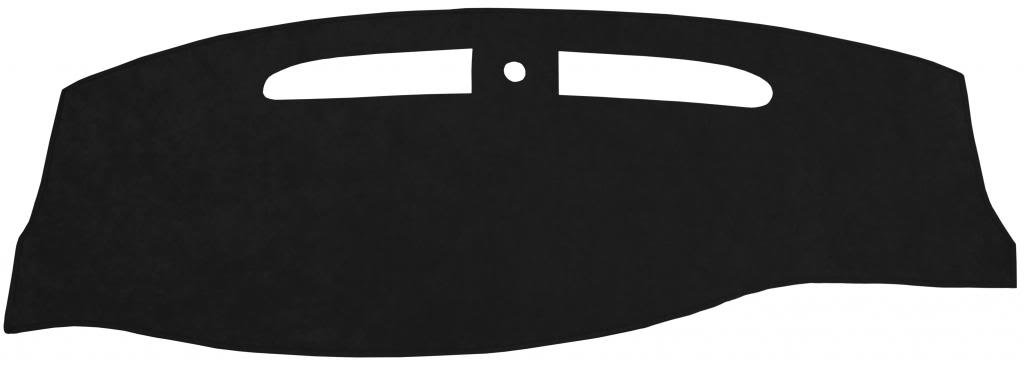 Seat Covers Unlimited Dash Cover Mat Pad - For Nissan 240SX 1995-1998 (Custom Suede, Black)