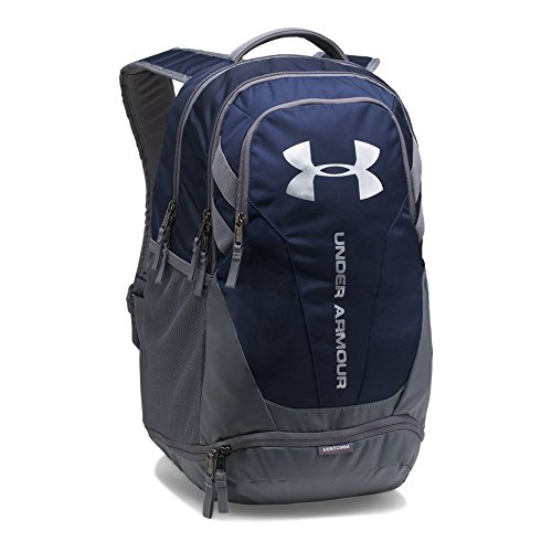 Under Armour Hustle 3.0 Backpack, Midnight Navy (410)/Silver, One Size Fits All