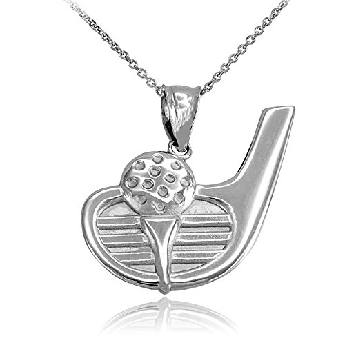Sports Charms Sterling Silver Golf Ball and Putter Pendant Necklace, ()
