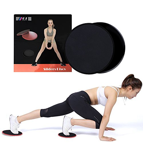Gliding Discs Core Sliders with Fitness Exercise Equipment, Dual Sided Allow for Use On Carpet, Tile, Vinyl or Hardwood Floors and So On.