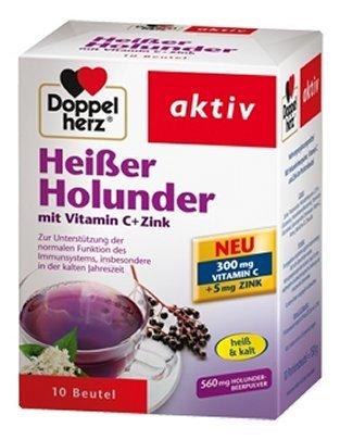 Doppelherz Heißer Holunder mit Vitamin C + Zink, 10 St