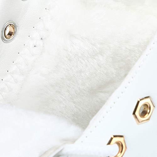 Bbestseller Planas De Mujer Las Tobillo Terciopelo Zapatos Invierno Cálido Nieve Mujeres Sport Invierno Botas Blanco EzqH1UE