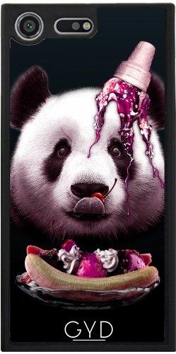 Funda Silicona para Sony Xperia XZ Premium - Panda Ama El Helado by Adam Lawless