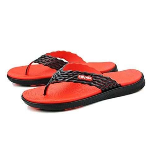 SHANGXIAN Zapatos zapatillas sandalias verano al aire libre plana talón azul verde rojo aguas arriba de los hombres Orange