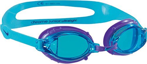 Nike Chrome Jr Goggles Turquoise Blue - Latex Neck Gasket